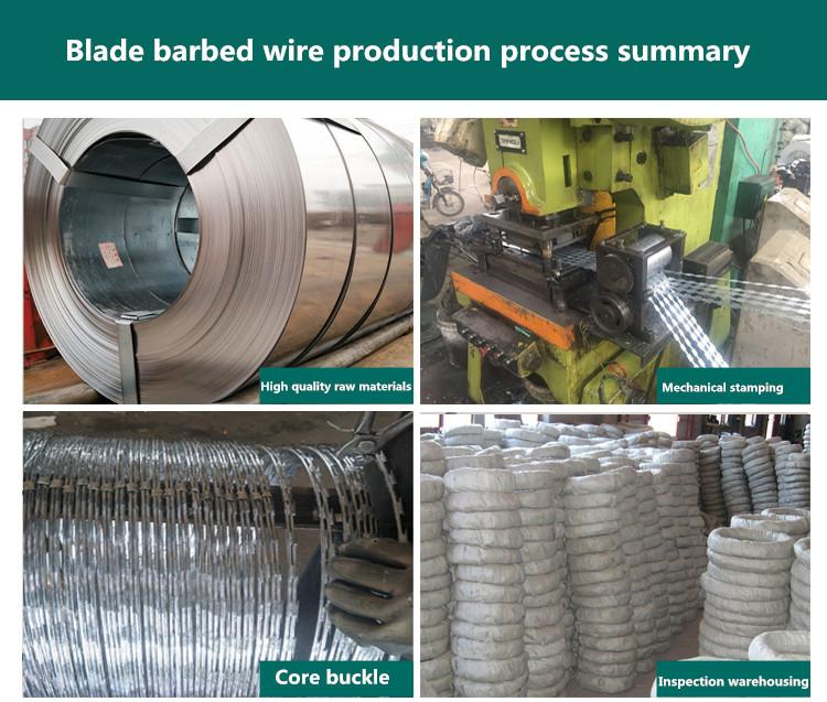 Razor barbed manufacturing shop