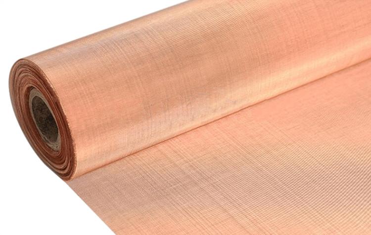 Phosphor copper wire mesh fabric